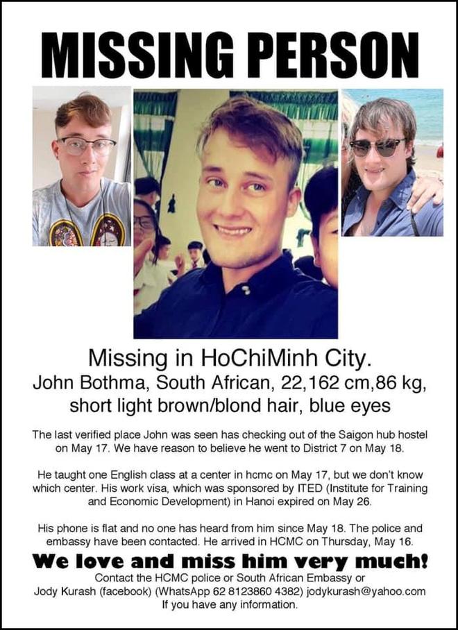 Chàng trai Nam Phi dạy tiếng Anh mất tích bí ẩn ở Việt Nam hơn 2 tuần qua-5