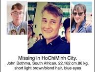 Chàng trai Nam Phi dạy tiếng Anh mất tích bí ẩn ở Việt Nam hơn 2 tuần qua