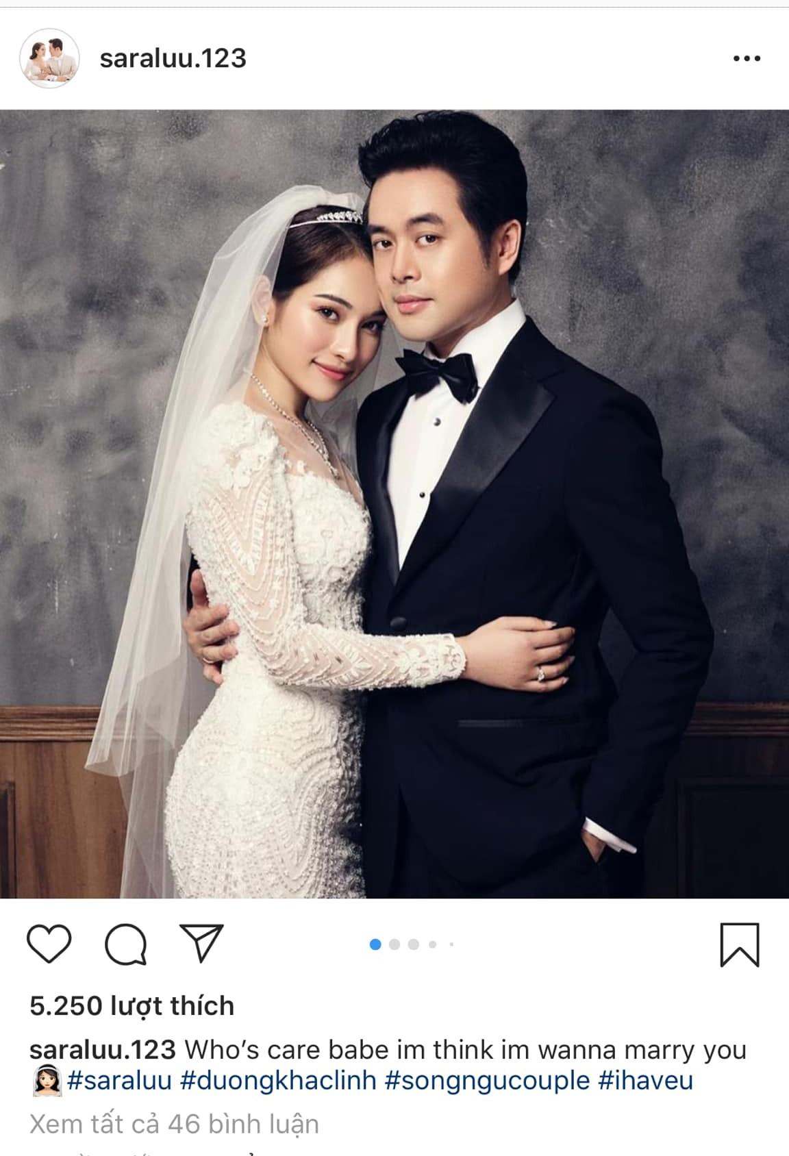 Sara Lưu hạnh phúc viết một câu tiếng Anh ngọt ngào đánh dấu ngày cưới, dân mạng lại cười bò vì chẳng hiểu gì-1