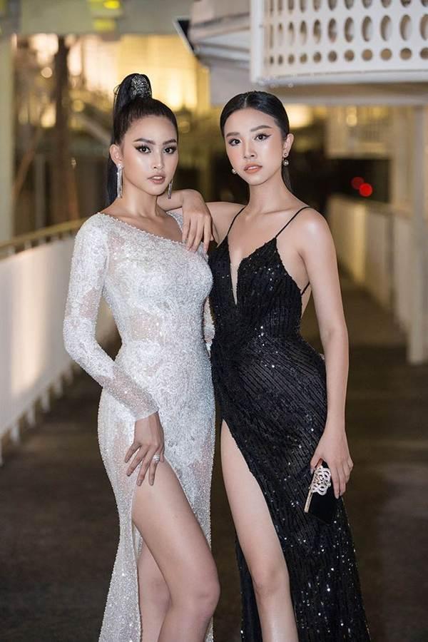 Hoa hậu Tiểu Vy, Á hậu Thuý An diện váy xẻ táo bạo khoe nhan sắc nữ thần-5