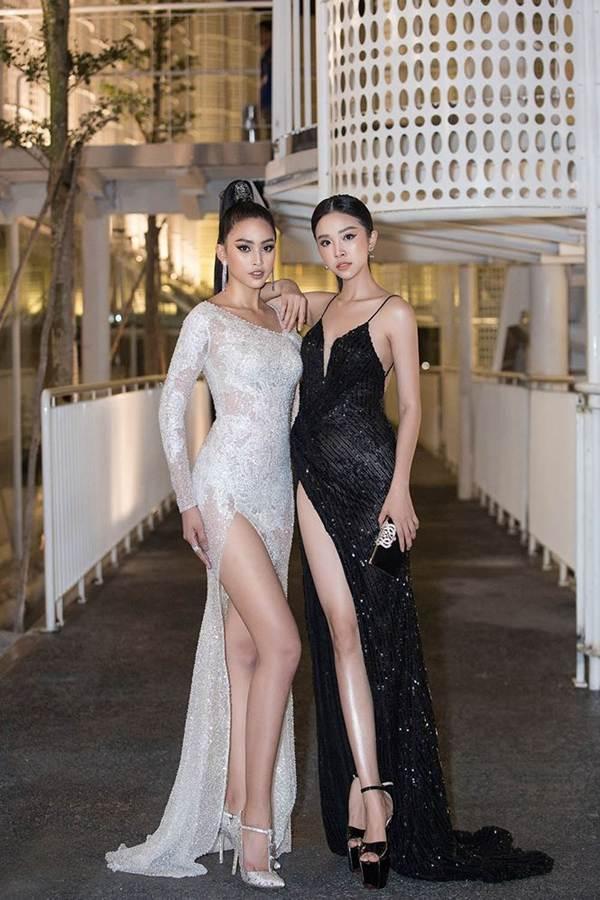 Hoa hậu Tiểu Vy, Á hậu Thuý An diện váy xẻ táo bạo khoe nhan sắc nữ thần-6