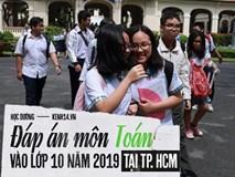 Đáp án môn Toán vào lớp 10 tại TP HCM năm 2019