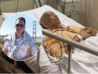 Không nhận ra nhạc sĩ Xuân Hiếu thư sinh ngày nào với hình ảnh đầu trọc lốc, da sạm màu vì xạ trị ung thư