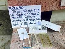 Bị giật điện thoại, chủ nhân viết bảng thông báo khiến tên trộm muốn quay lại ngay lập tức