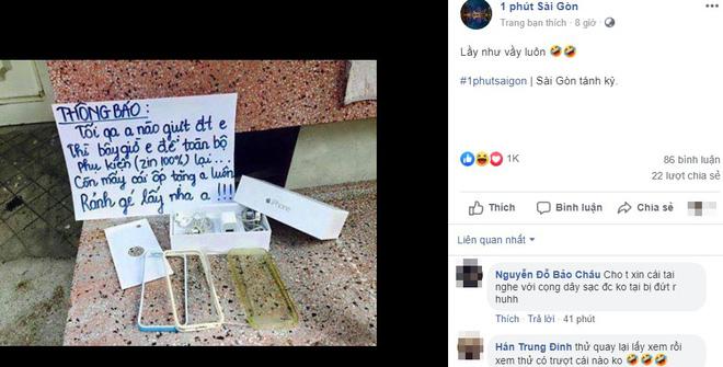 Bị giật điện thoại, chủ nhân viết bảng thông báo khiến tên trộm muốn quay lại ngay lập tức-1