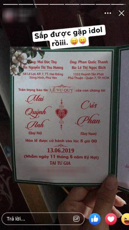 HOT: YouTuber đình đám Cris Phan đăng ảnh cưới, chuẩn bị kết hôn với hotgirl Mai Quỳnh Anh vào tháng 6-2