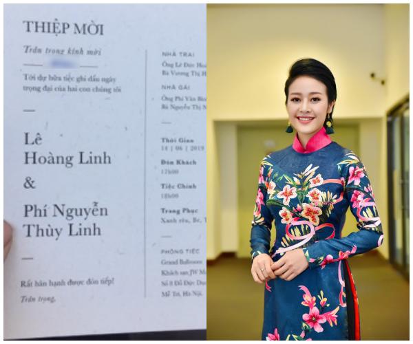Lộ thiệp cưới của MC Phí Linh, danh tính chú rể khiến ai cũng bất ngờ-1
