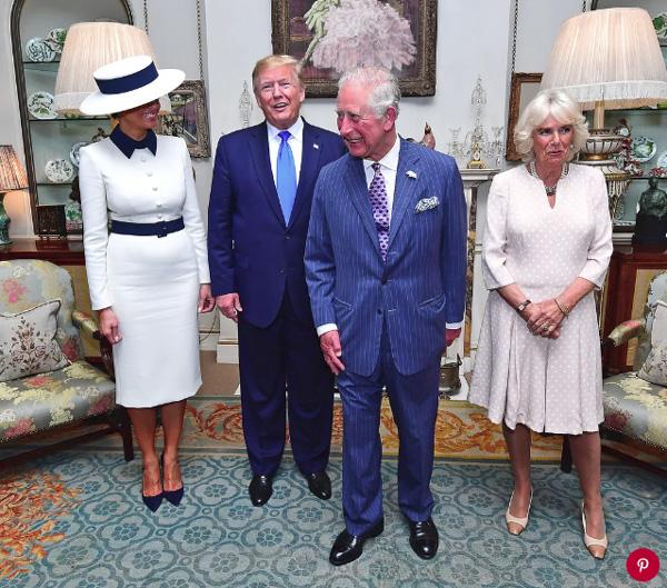 Bà Camilla Parker, người bị ghét nhất hoàng gia Anh, bỗng nổi như cồn chỉ sau một đêm nhờ cái nháy mắt thần thánh khi gặp vợ chồng Tổng thống Trump-1
