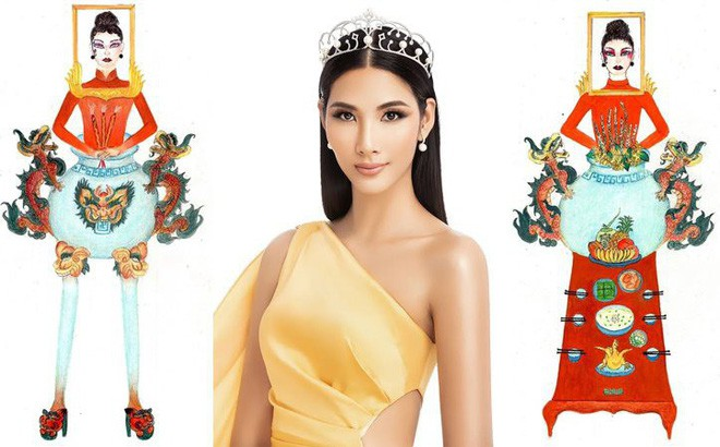 Á hậu Hoàng Thùy gây tranh cãi khi khoe chụp ảnh cùng khung ảnh bàn thờ, netizen chỉ trích: Vui thôi đừng vui quá-2