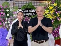 Đám tang bố ruột Phi Thanh Vân: Chồng đầu người Pháp đến viếng, chồng hai Bảo Duy vắng mặt
