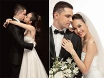 MC Phương Mai tình tứ 'khóa môi' chồng trong ảnh cưới giản dị
