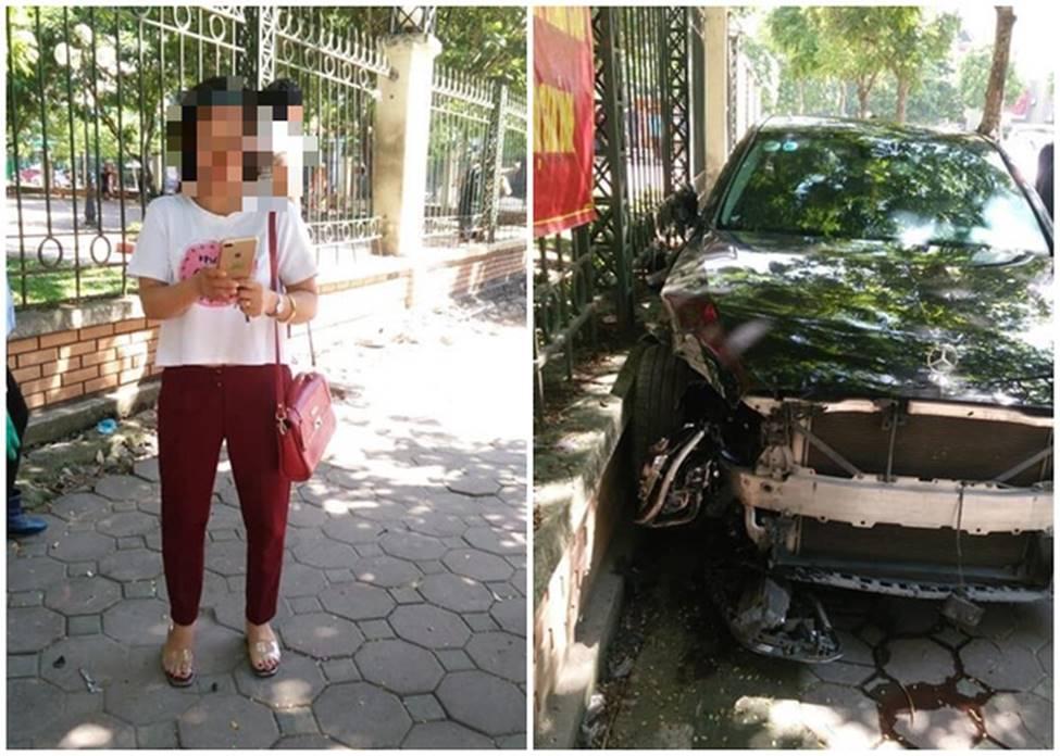 Hà Nội: Nữ tài xế xe điên đâm một người phụ nữ nguy kịch khi đang đi chợ-1