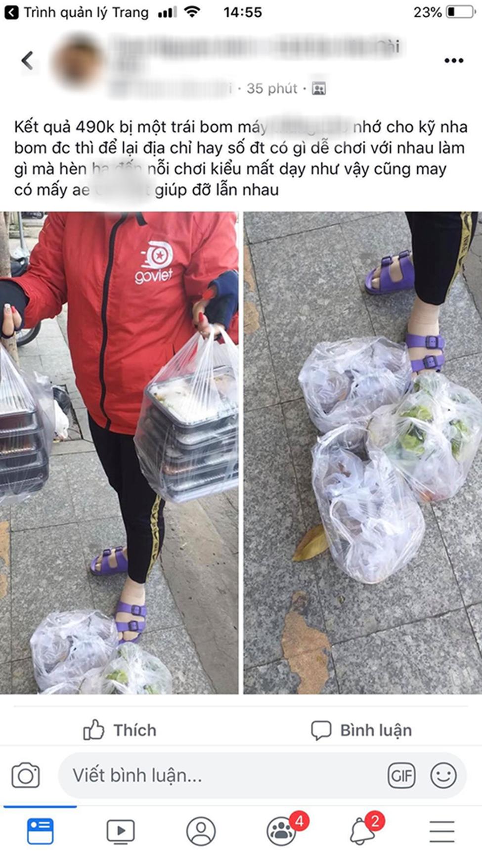 Hết bùng trà sữa tiền triệu, một shipper nữ khác bị bom gần 500 ngàn tiền cơm khiến dân mạng phẫn nộ-1