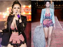 Chi Pu nhiều lần gây tranh cãi vì trang phục giống nhà mốt quốc tế