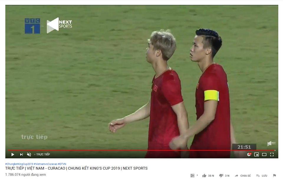 Chung kết King's Cup 2019 giữa Việt Nam và Curacao đạt lượng người xem cao kỷ lục trên YouTube-1