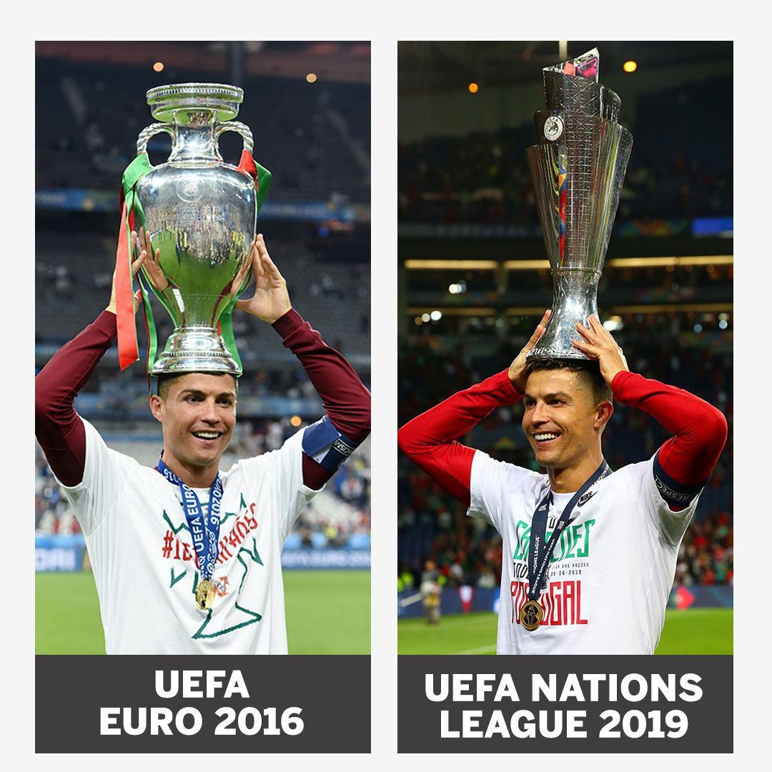 Biểu cảm hài hước của Ronaldo sau khi cùng đồng đội tuyển Bồ Đào Nha làm nên lịch sử ở UEFA Nations League-5