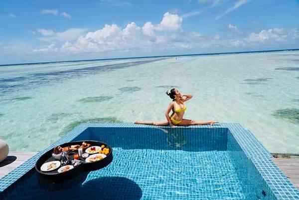 Ốc Thanh Vân mặc bikini tạo dáng yoga gây sốt-6