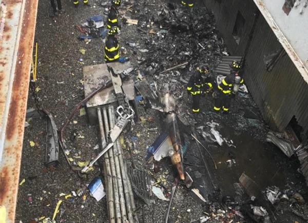 Trực thăng đâm vào nóc cao ốc ở New York, phi công tử nạn-2