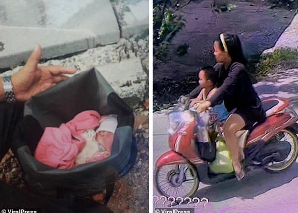 Hình ảnh gây sốc: Ác mẫu tự tay vứt con mới sinh còn nguyên dây rốn vào bãi rác, trên đường đi còn chở theo đứa lớn hơn-2
