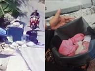 Hình ảnh gây sốc: Ác mẫu tự tay vứt con mới sinh còn nguyên dây rốn vào bãi rác, trên đường đi còn chở theo đứa lớn hơn