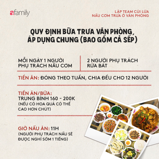 Cô nàng Hà Nội khoe văn hóa thú vị ở công ty: Lập team nấu cơm ngay tại văn phòng, sếp cũng được phân công rửa bát-9