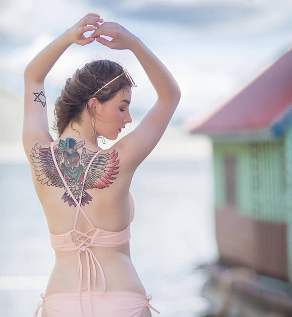 2 thánh nữ xăm mình Thái Lan, Brazil: Da trắng như bông bưởi vẫn để dính mực-13