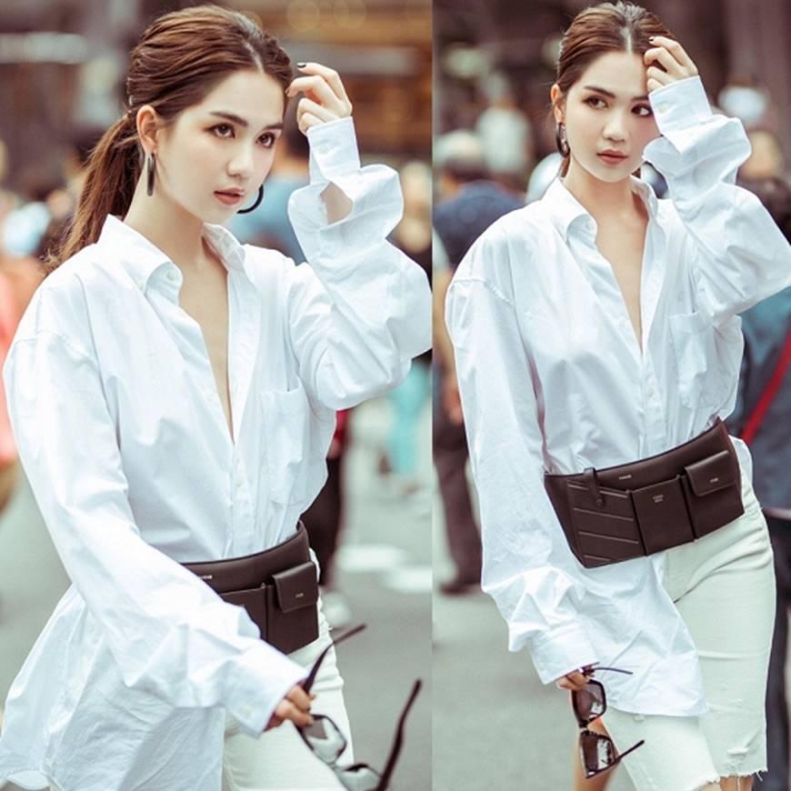 Ngọc Trinh lại diện áo bra khoe đường cong gợi cảm trên đường phố Singapore-9