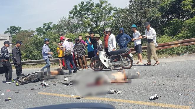 Hà Nam: Va chạm với xe tải ngã xuống đường, 2 người bị ô tô cán tử vong thi thể không còn nguyên vẹn-1