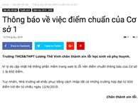 Trường Lương Thế Vinh xin lỗi vì trang web bị lỗi, nhầm điểm chuẩn từ 650 thành 670 khiến học sinh khóc ròng