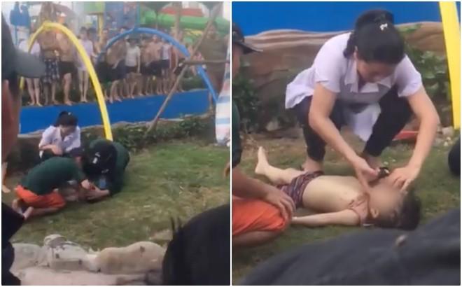 Bé trai 3 tuổi bị đuối nước tại Công viên nước Thanh Hà đã tử vong-2