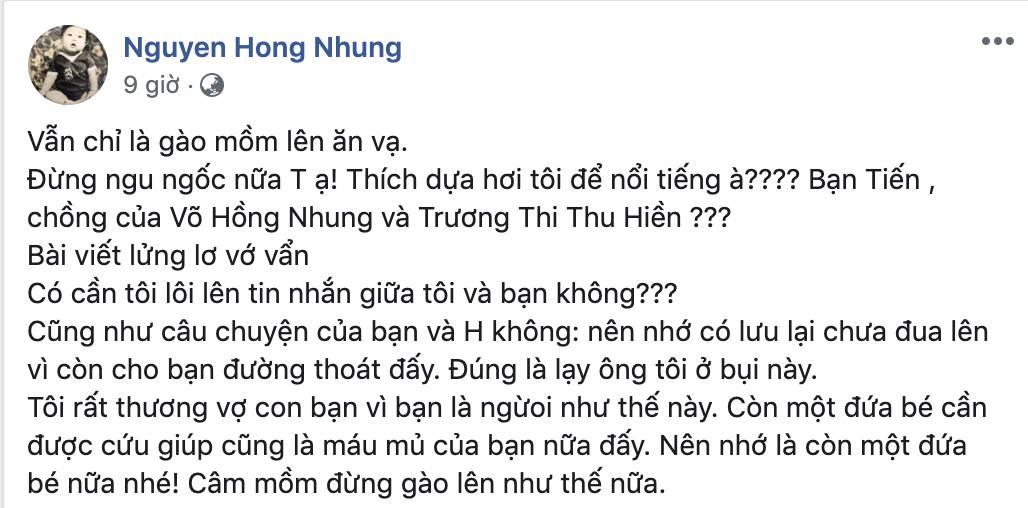 Nguyễn Hồng Nhung - bà xã Xuân Bắc bất ngờ bị tố đã bôi nhọ, sỉ nhục người khác, nếu không dừng lại sẽ khởi kiện-8