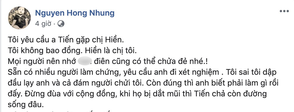 Nguyễn Hồng Nhung - bà xã Xuân Bắc bất ngờ bị tố đã bôi nhọ, sỉ nhục người khác, nếu không dừng lại sẽ khởi kiện-9