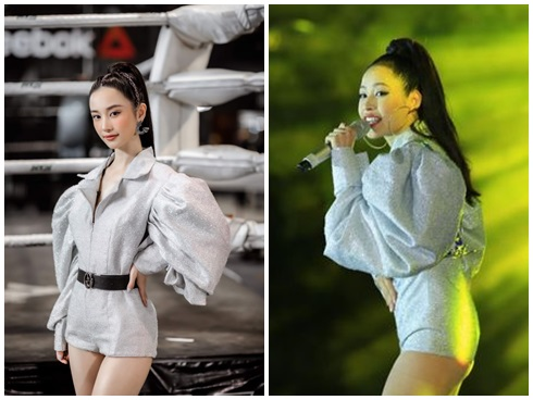 Sao Việt lăng-xê váy áo tay bồng lực sĩ: Chi Pu bị chê cô bé đô con - Bích Phương, Hồ Ngọc Hà lại được khen tới tấp-2