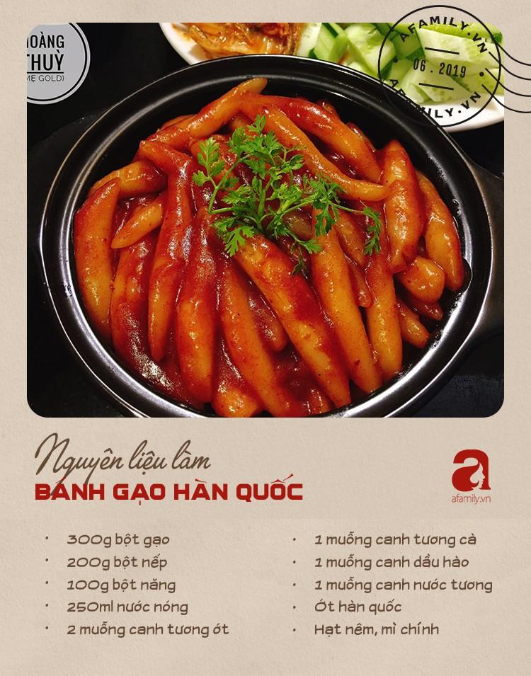 Đổi món với công thức bánh gạo Hàn Quốc dẻo thơm đậm vị của mẹ 9X xinh như Hot Girl-2