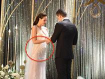 """Ngập tràn hạnh phúc, cô dâu Phương Mai """"bung lụa"""" không còn che giấu vòng 2 to như bầu 4,5 tháng"""