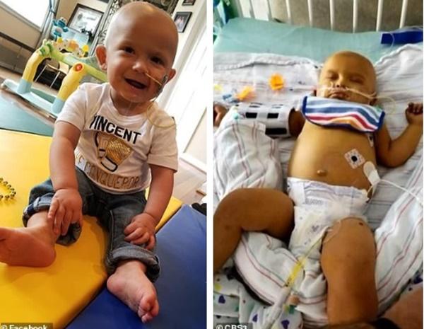 Thấy đầu con bắt đầu nghiêng nhẹ sang phải, bố mẹ không ngờ con trai 3 tháng tuổi bị bệnh ung thư nghiêm trọng đến thế-4