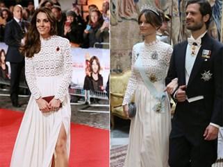 Hơn 3 tuổi nhưng công nương Kate Middleton sexy hơn hẳn công nương Sofia khi đụng váy