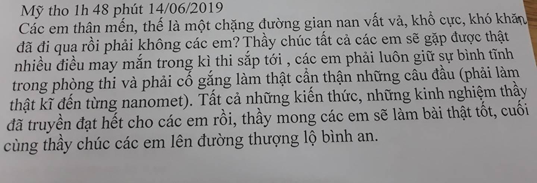 Tâm thư thầy giáo Tiền Giang gửi cho học trò lớp 12: Kiến thức thầy truyền đạt hết rồi, việc còn lại là của các em...-1
