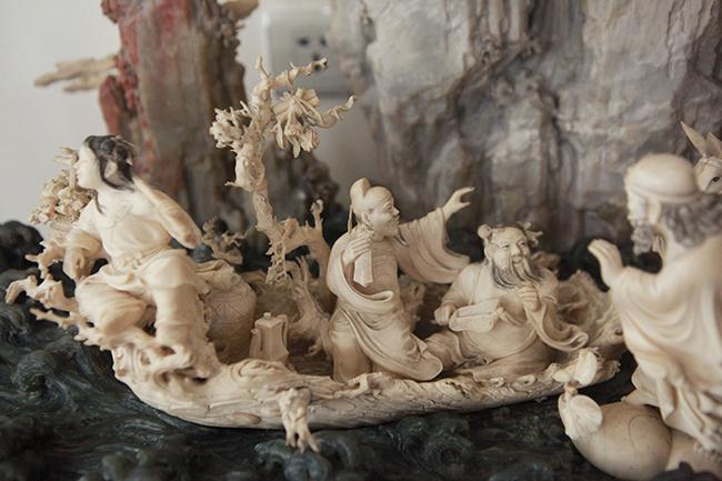 Tuyệt phẩm điêu khắc bát tiên quá hải độc nhất vô nhị ở Việt Nam-4