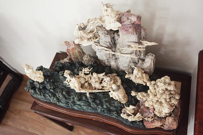 Tuyệt phẩm điêu khắc bát tiên quá hải độc nhất vô nhị ở Việt Nam-5