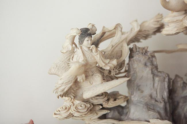 Tuyệt phẩm điêu khắc bát tiên quá hải độc nhất vô nhị ở Việt Nam-11