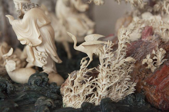 Tuyệt phẩm điêu khắc bát tiên quá hải độc nhất vô nhị ở Việt Nam-13