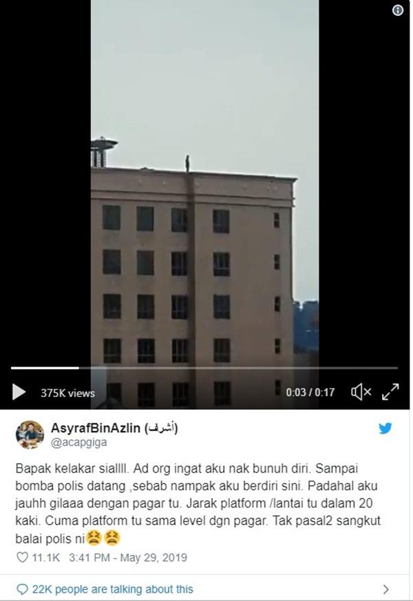 Xôn xao người đàn ông đứng trên sân thượng sắp nhảy lầu tự tử nhưng câu chuyện đằng sau lại hoàn toàn không như mọi người nghĩ-2
