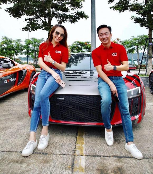 Đàm Thu Trang khoe khéo thân hình thọn gọn khi chụp cùng Cường Đô la sau khi than thở chuyện tăng cân không kiểm soát-1