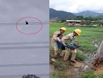 Nhân chứng kể phút toát mồ hôi hột giải cứu nam thanh niên ngồi vắt vẻo trên đường điện cao gần 100m