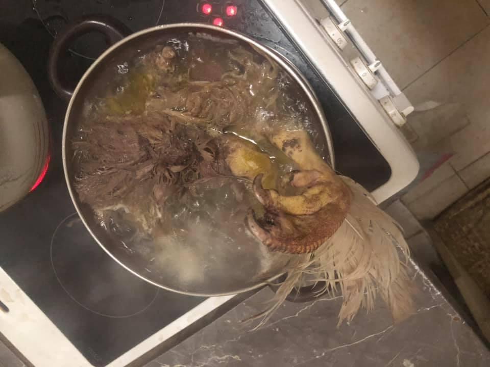 Chồng dặn nấu cháo gà nguyên con và thành quả của cô vợ đảm khiến dân mạng sốc toàn tập-3