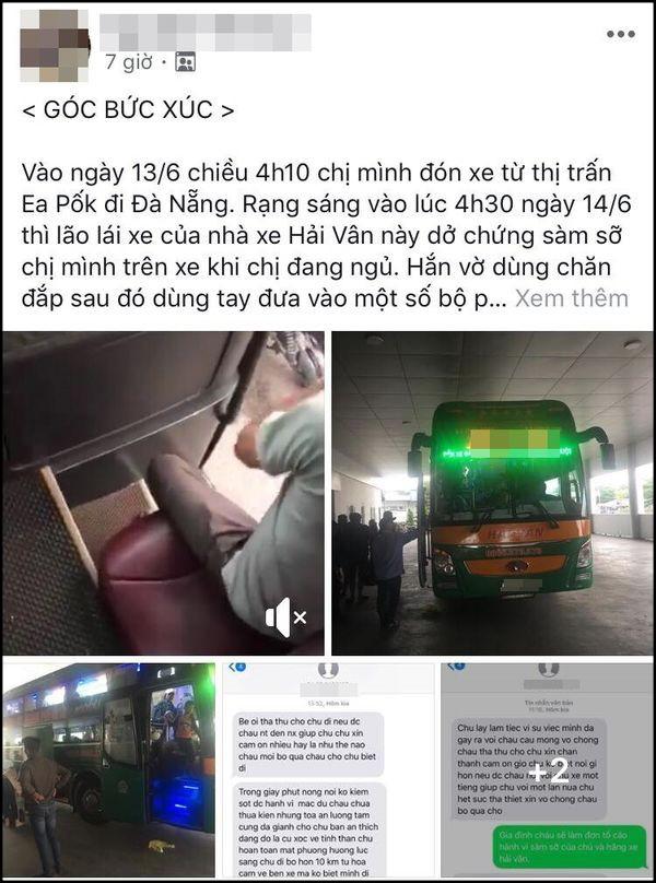 Sàm sỡ nữ hành khách trên chuyến xe đêm rồi nhắn tin bé ơi tha cho chú, tài xế xe Hải Vân bị đuổi việc-1