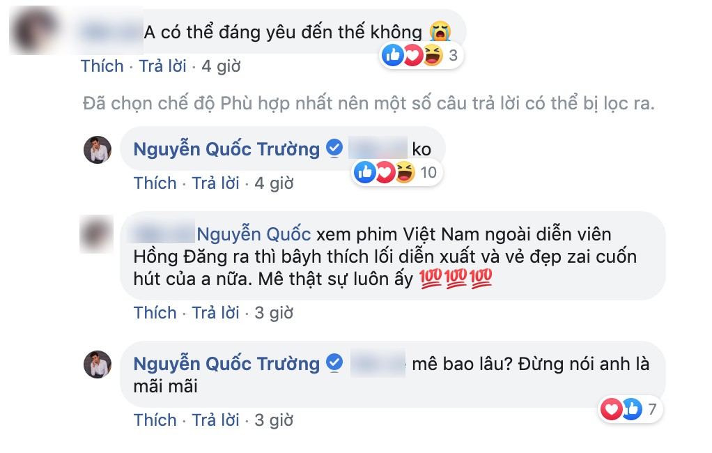 Quốc Trường thả thính fan nữ trên Facebook ngọt lịm nhưng lại phũ thế này khi Bảo Thanh xuất hiện-2