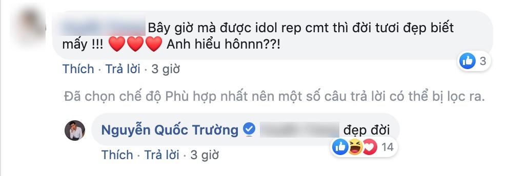 Quốc Trường thả thính fan nữ trên Facebook ngọt lịm nhưng lại phũ thế này khi Bảo Thanh xuất hiện-5