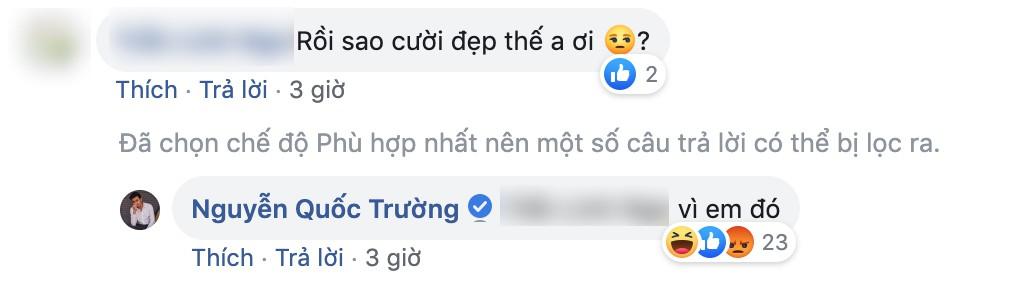 Quốc Trường thả thính fan nữ trên Facebook ngọt lịm nhưng lại phũ thế này khi Bảo Thanh xuất hiện-4